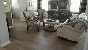 Hardwood flooring in living room | Direct Carpet Unlimited