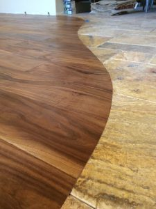 Beautiful view of Half Hardwood flooring with half floor | Direct Carpet Unlimited