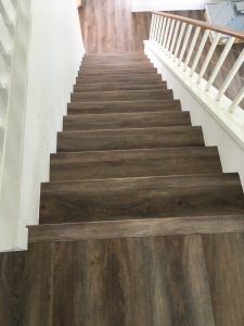 Stair with wood | Hardwood floor | Direct Carpet Unlimited
