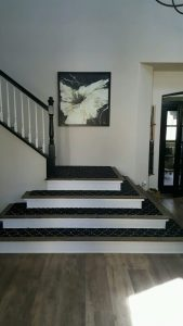 Contrast color of stairs and Floor | Installation Galley | Direct Carpet Unlimited