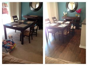 With and without Hardwood floor | Installation Galley | Direct Carpet Unlimited