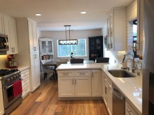 Hardwood Flooring in kitchen | Installation Galley | Direct Carpet Unlimited