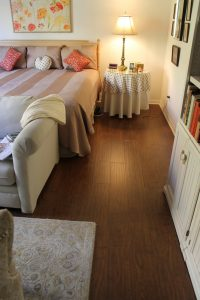 Hardwood Flooring of the bedroom | Installation Galley | Direct Carpet Unlimited