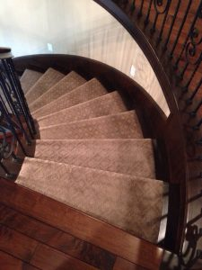 Rounded Staircases carpet flooring | Installation Galley | Direct Carpet Unlimited