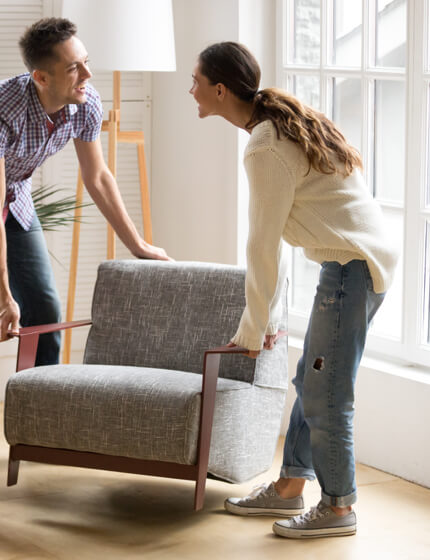 Moving furntiture | Carpet Installation | Direct Carpet Unlimited