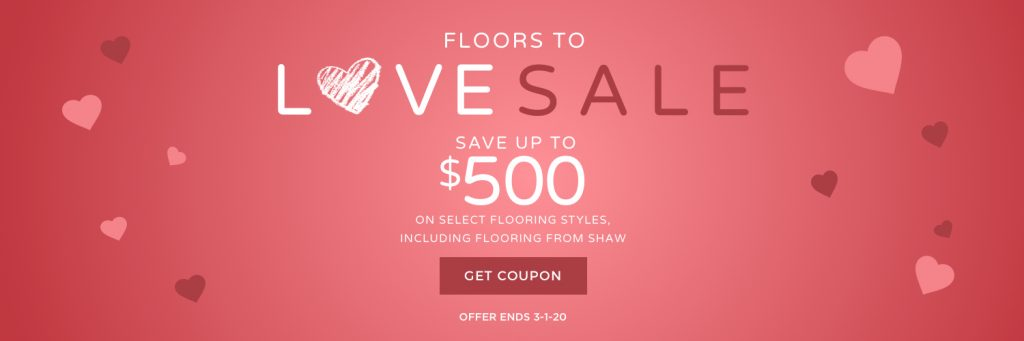 Floors to love sale banner | Direct Carpet Unlimited