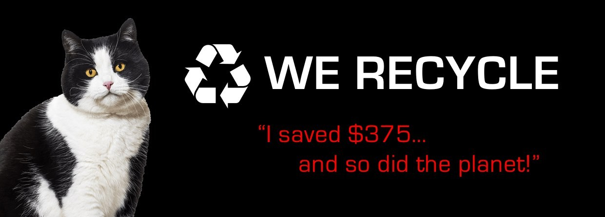 We recycle | Direct Carpet Unlimited